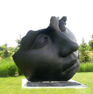 Creative decoration outdoor large metal garden art sculptures statues of face for sale