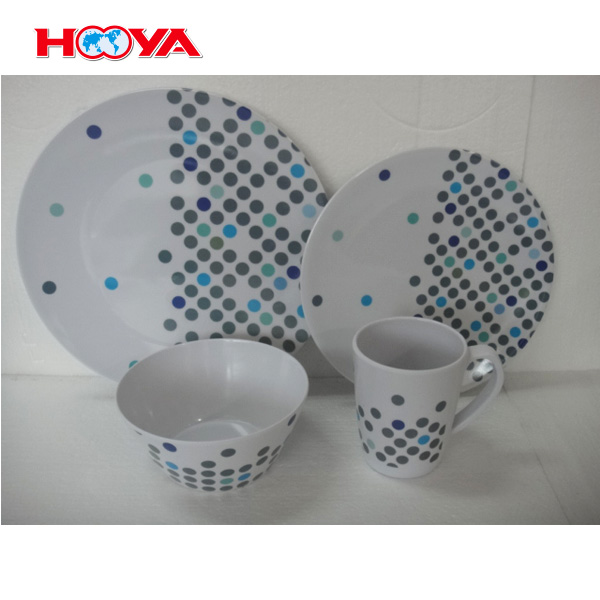 E-co friendly melamine tableware dinner set western dinnerware dish sets