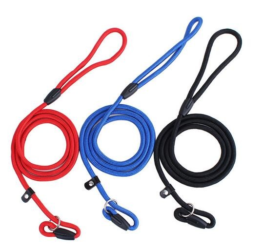 NEW Pet Dog Nylon Rope Training Leash Slip Lead Strap Adjustable Traction Collar