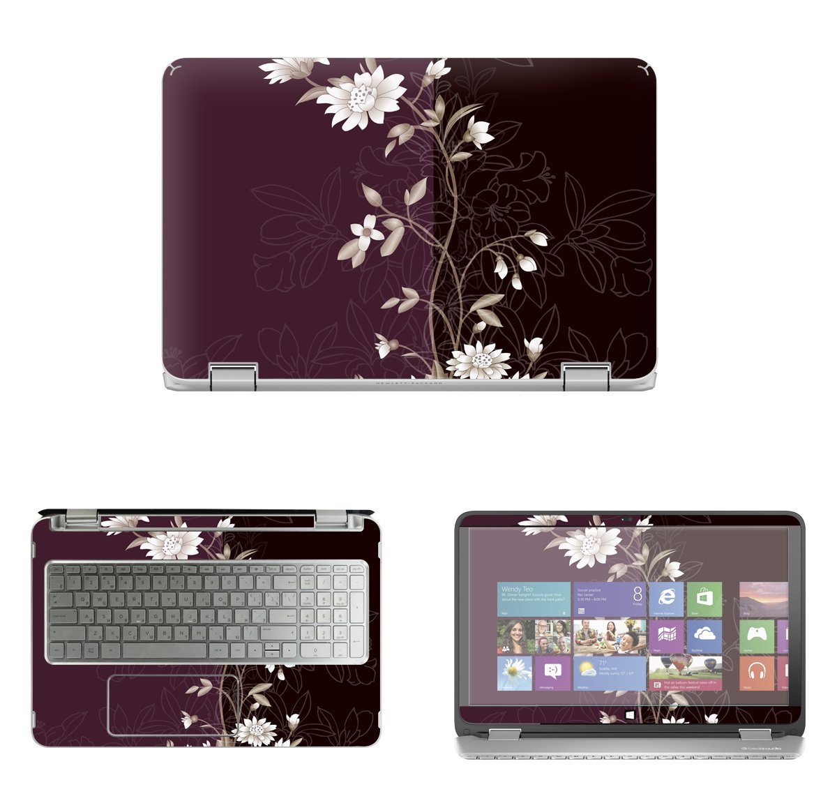 Protective Decal Skin Sticker for HP Envy X360 15-u011dx 2-in-1 (15 6