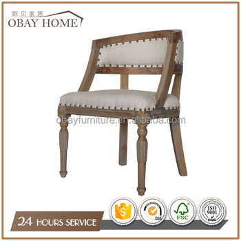 Low oval back dining chairs Antique wood Dining Room Furniture Hot sales