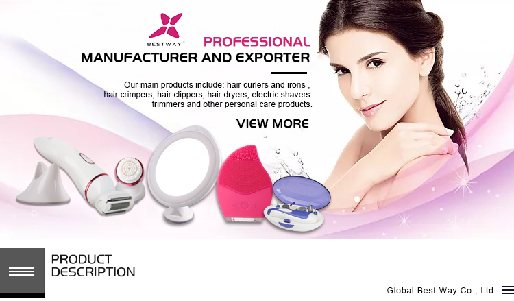 5 in 1 multiple functional rechargeable hair removal machine lady shaver lady epilator RIWA Model GWF094