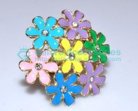 wholesale colorful flower girls big finger rings supplier