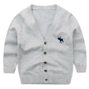 Wholesale new design hand knitted cardigan sweater for kids/girl