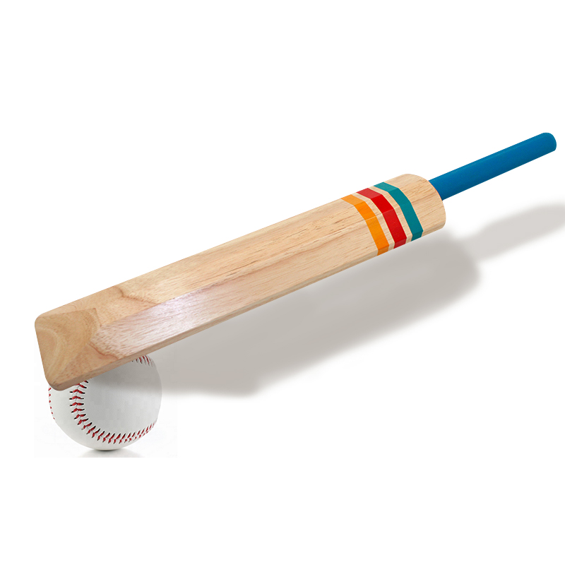 solid wood cricket bat wooden outdoor game for kids garden game croquet set