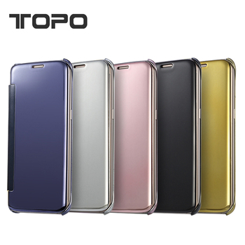 promo code 5fd04 e12f4 Top Selling Clear View Transparent Flip Electroplating Pc Mirror Phone Case  For Samsung Galaxy S6 S7 S8 Edge For Iphone 6 7 Plus - Buy Mirror Case For  ...