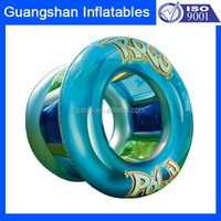 Funny durable commercial decorative giant inflatable water rolling wheel