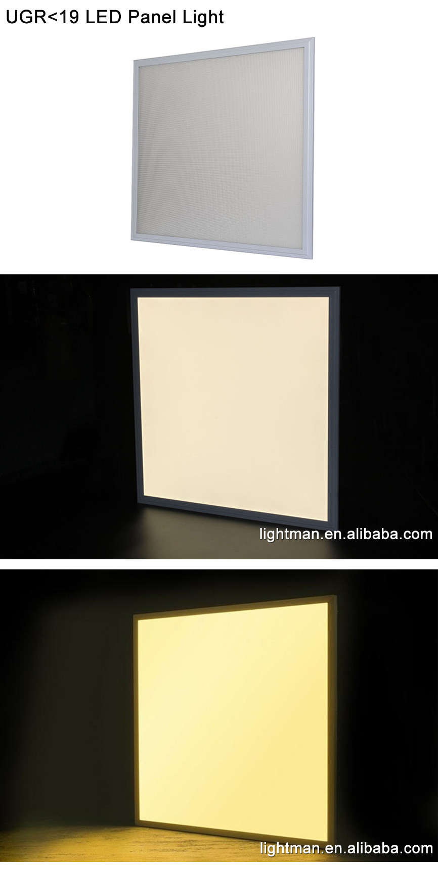 20w ugr19 led light panel with pc diffuser led lighting plate 300x300