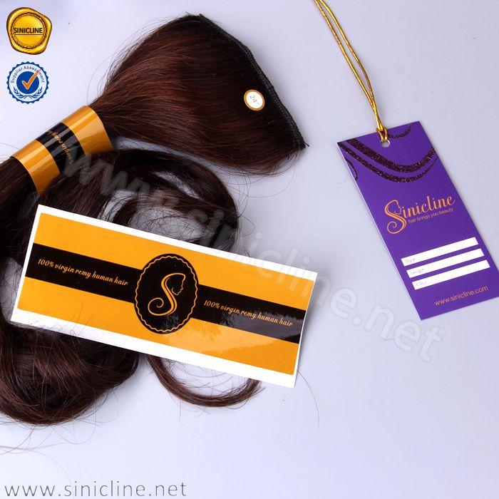 Sinicline कस्टम सोने के लोगो मुद्रित बाल लेबल स्टीकर बाल विस्तार लेबल