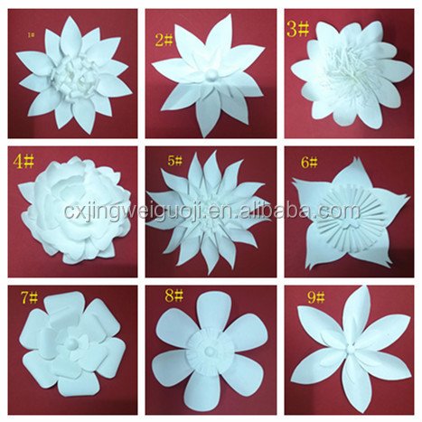 Beautiful handmade paper flowers wedding wall decoration for Flower decoration made of paper