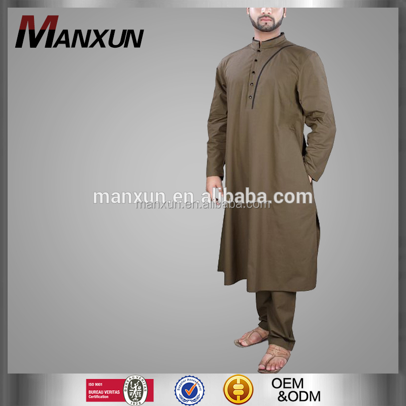 Popular muslimah men thobe juba islamic EID men robe suit 2017