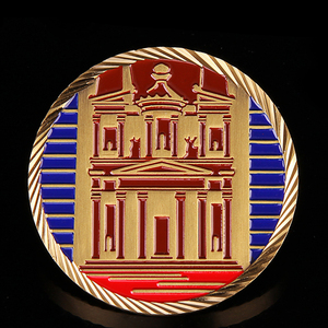 Antique colorful Souvenir logo gold plated custom coin
