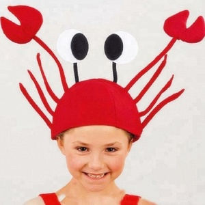 Child Adult Creative Festival Funny Crazy Crab Cosplay Headwear Halloween Christmas Party Hats