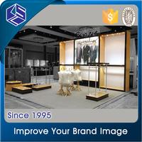 men's suit display furniture decoration design for retail garment store