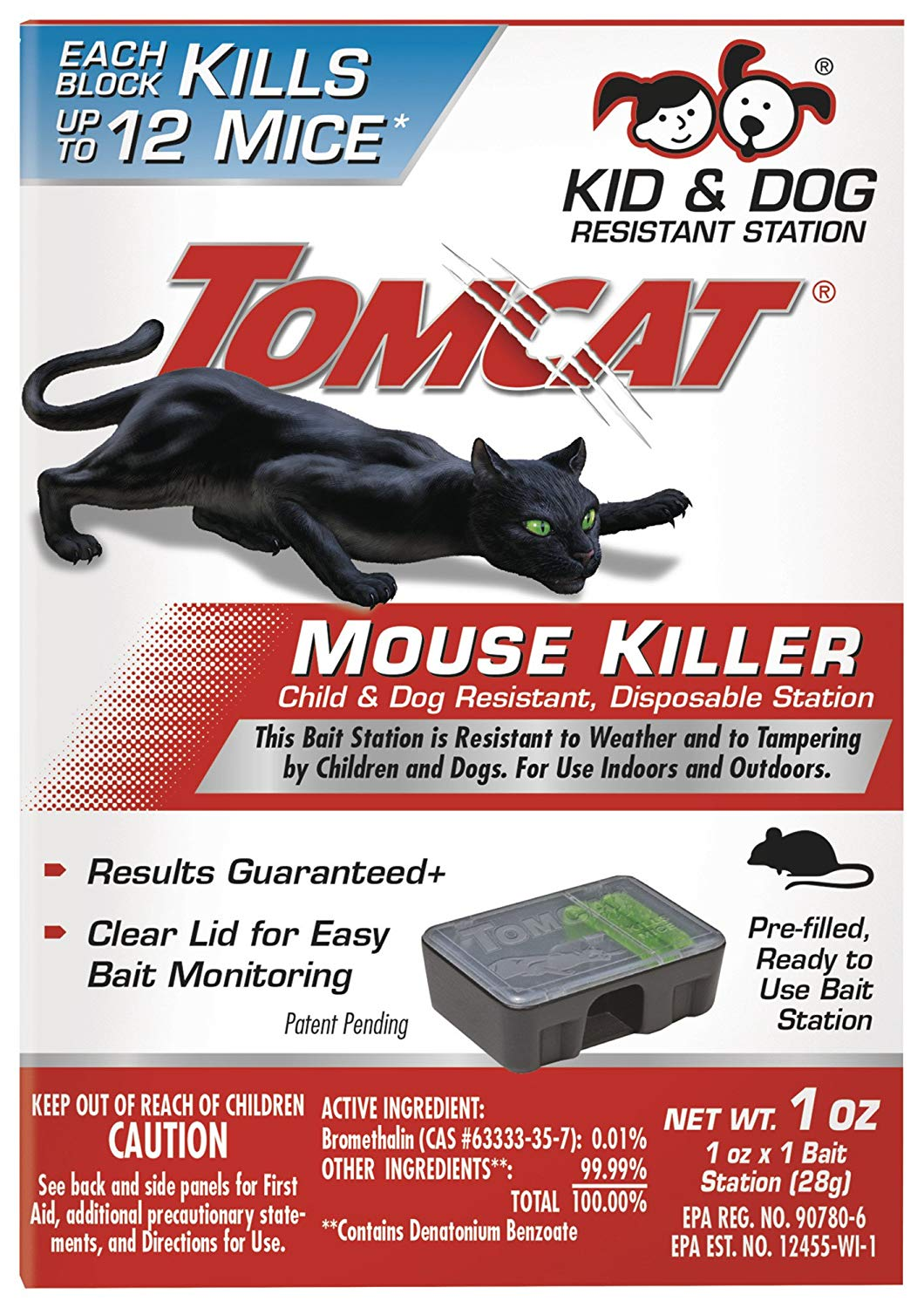 Tomcat 370610 Mouse Killer Child & Dog Resistant, Disposable Station