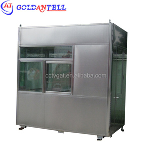 80x80 square shower cabin steel structure construction paint guarder room prefabricated security booth