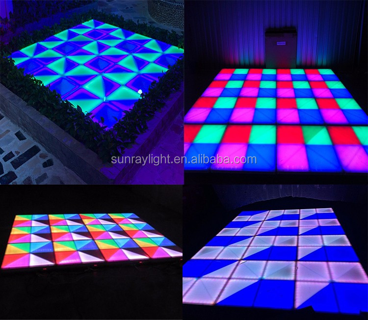 Night Club Disco Dj Light White acrylic Rgb Color Portable Interactive Dmx512 30CH Led Dance Floor For Sale