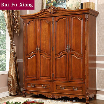 Antique French Armoire Solid Wood Wardrobe I 209