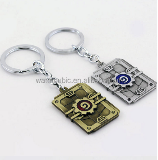 3D Hearthstone Keychains Heroes Of War Craft Key Chains Ring Best Friend Keychain Gifts Accessories Key Ring Pendant