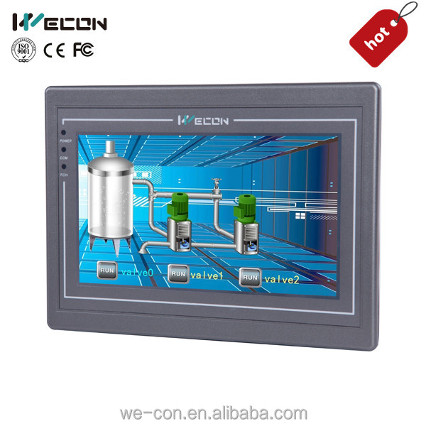 Wecon 10.2 inch advanced hmi for most plc brand WINCE 7.0