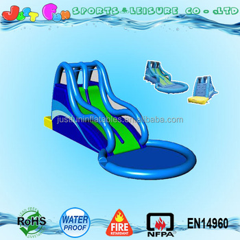 Small Cheap Inflatable Water Park Swimming Pool Slides For