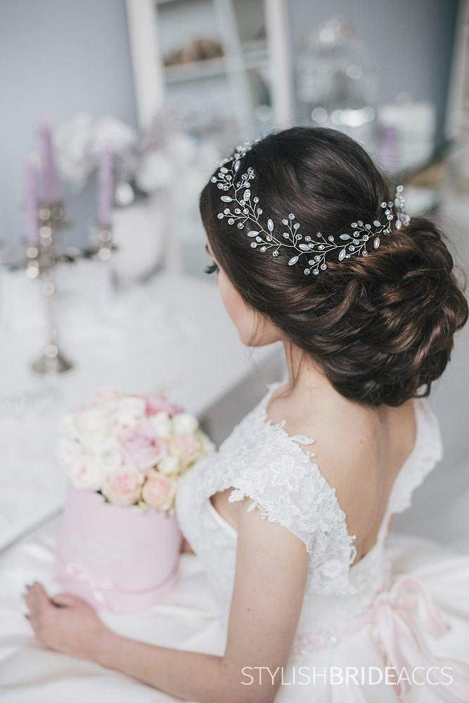 Wedding crystal hair vine Bridal hair crystal vine Pearl hair accessories Pearl crystal bridal vine Bridal hair piece Bridal vine
