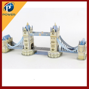 Paper London Bridge Model Jigsaw Puzzles for Children Kids Toys