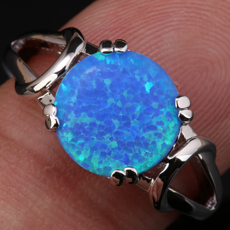 Details About Blue Fire Opal Cz Magic 925 Sterling Silver