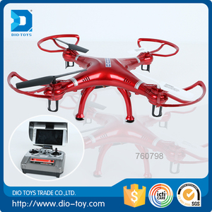 2.4G RC drone with HD camera 4ch quadcopter with camera live transmission recmote control helicopter hobby king with 4 light