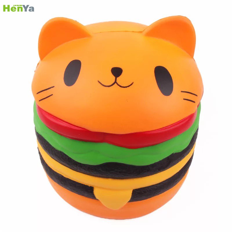 China Groothandel Jumbo Kawaii Drie Layer Hamburger Stress Bal van Panda Vorm