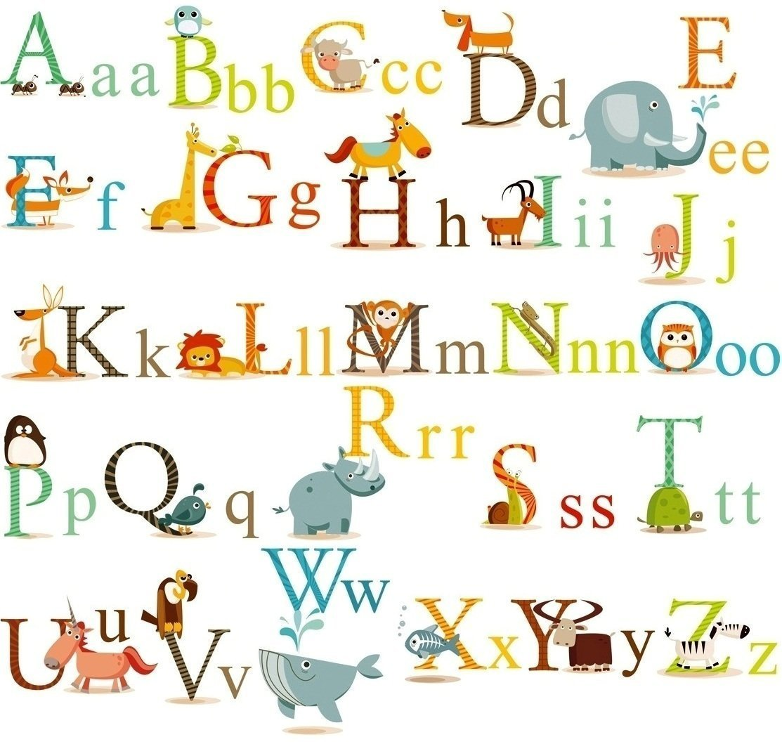 Get Quotations Hdsudcg Alphabet Animals Abc Wall Decals Stickers And L Easily Removable For Daycare School Kids Toddler