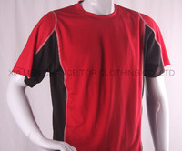 2016 new High quality rayon 100 polyester plain sports t shirts for men