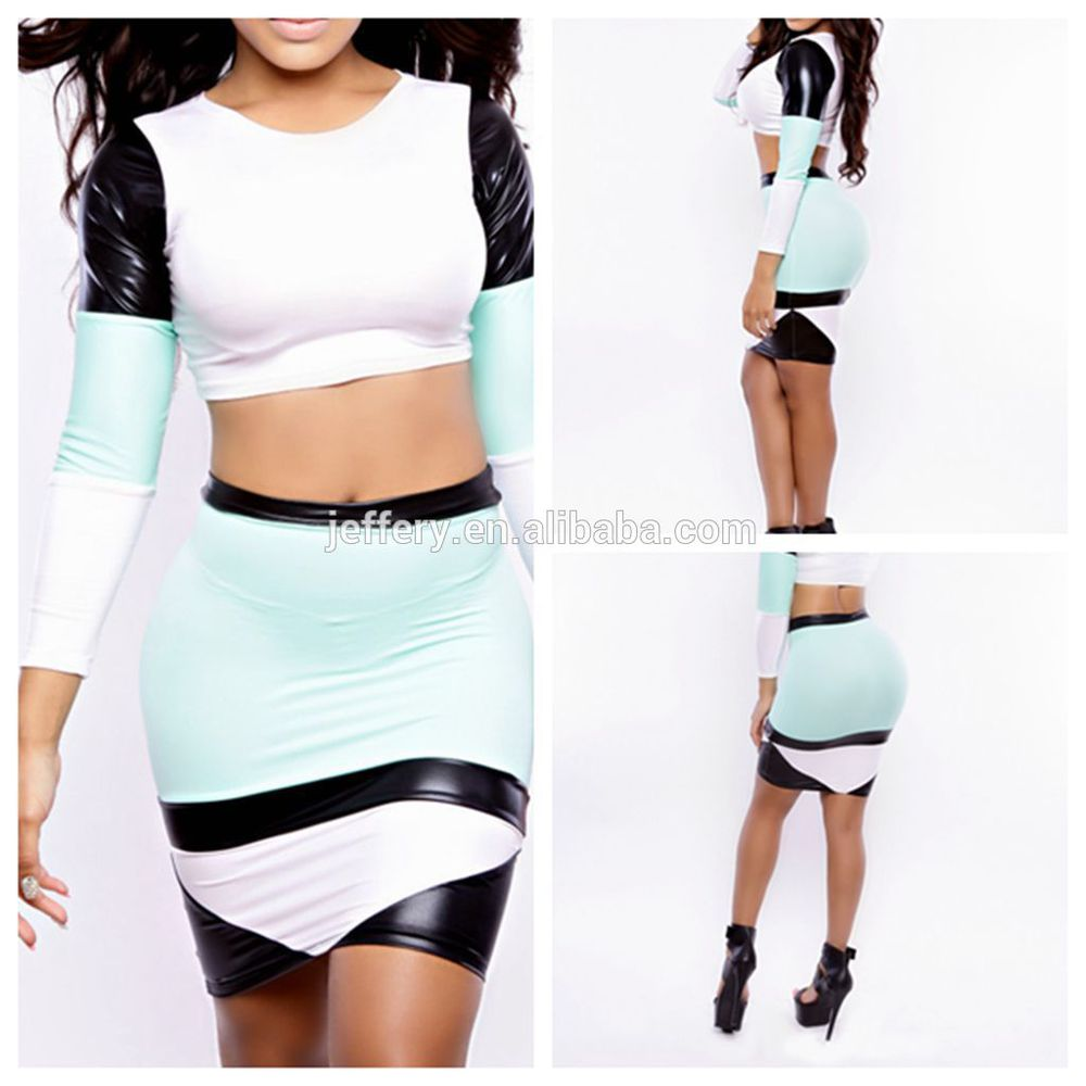 New Bodycon Dress Stripe Mesh Patchwork Dress Two Pieces Africa ...