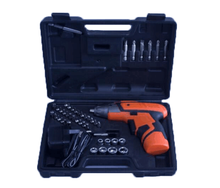 46PC 3.6V Cheap LED Working Light Folded Handle Tools Set Drill Kit Cordless Electric Screwdriver For Household