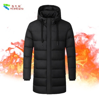YIZHIQIU 2019 USB heated rechargeable battery winter jackets men mens coats and jackets