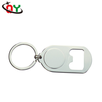 Easy to use and carry home kitchen convenient metal custom bottle opener keychain