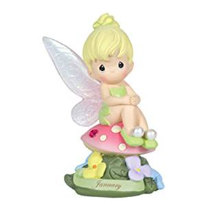 "Precious Moments, Disney Showcase Collection, Birthday Gifts, ""January Fairy As Tinker Bell"", Resin Figurine, Garnet, 113208"