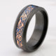 Hot Sale Tungsten Steel Ring with rose gold and blue dragon piece --DTSR 114