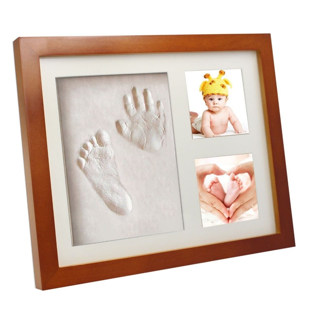 Baby Boy&girl Photo Frame with Handprint and Footprint / Newborn Baby Cast Size 23X28 cm White Photo Frame Box Set
