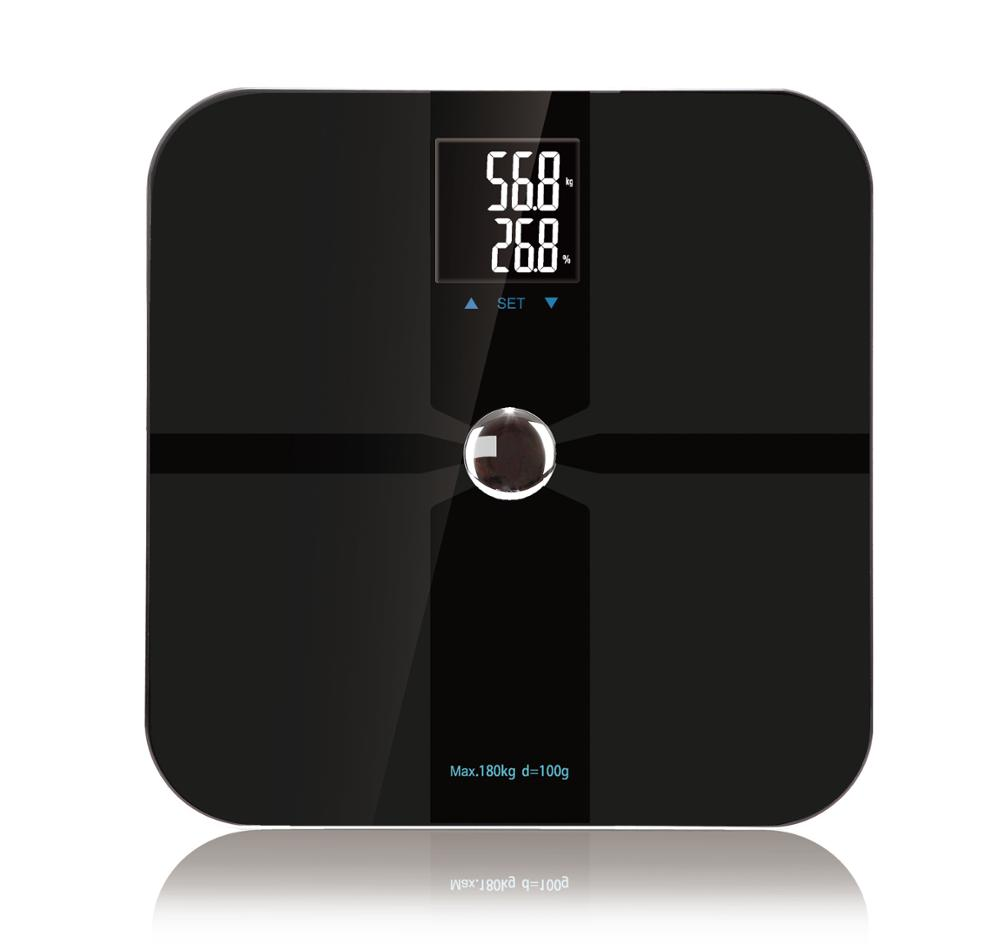 Bluetooth Digital Body Fat weighing Scale BMI analyzer with ITO coating technology 180kgs/396lbs smart household