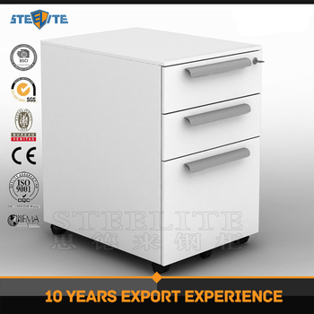 customized malaysia office used lockable 3 drawer steel mobile 3 drawer lockable filing cabinet