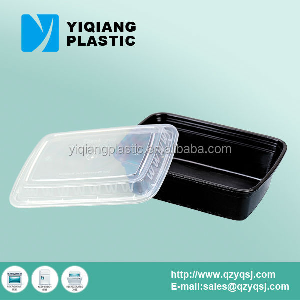 Recyclable takeaway disposable oven safe plastic food container with lid
