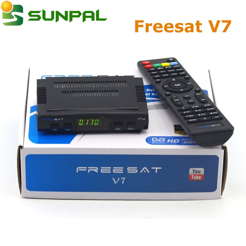 receptor digital 1080P HD <strong>TV</strong> receiver Freesat V7 HD DVB-S <strong>tuner</strong> FTA <strong>Set</strong> <strong>top</strong> box
