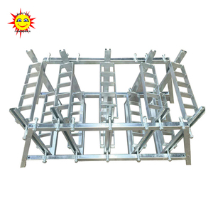 Factory price 4 inch 25 shots slot type iron shells mortar tube fireworks display rack