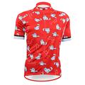 New Many RED MEOW Alien SportsWear Womens Cycling Jersey Cycling Clothing Bike Shirt Size 2XS TO
