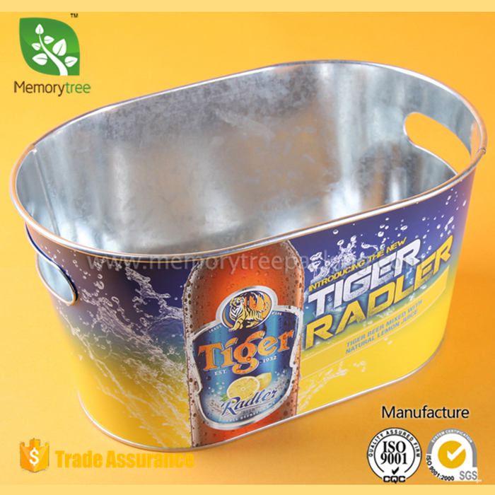 5L galvanized iron ice bucket ice cooler ice pail, beer bucket