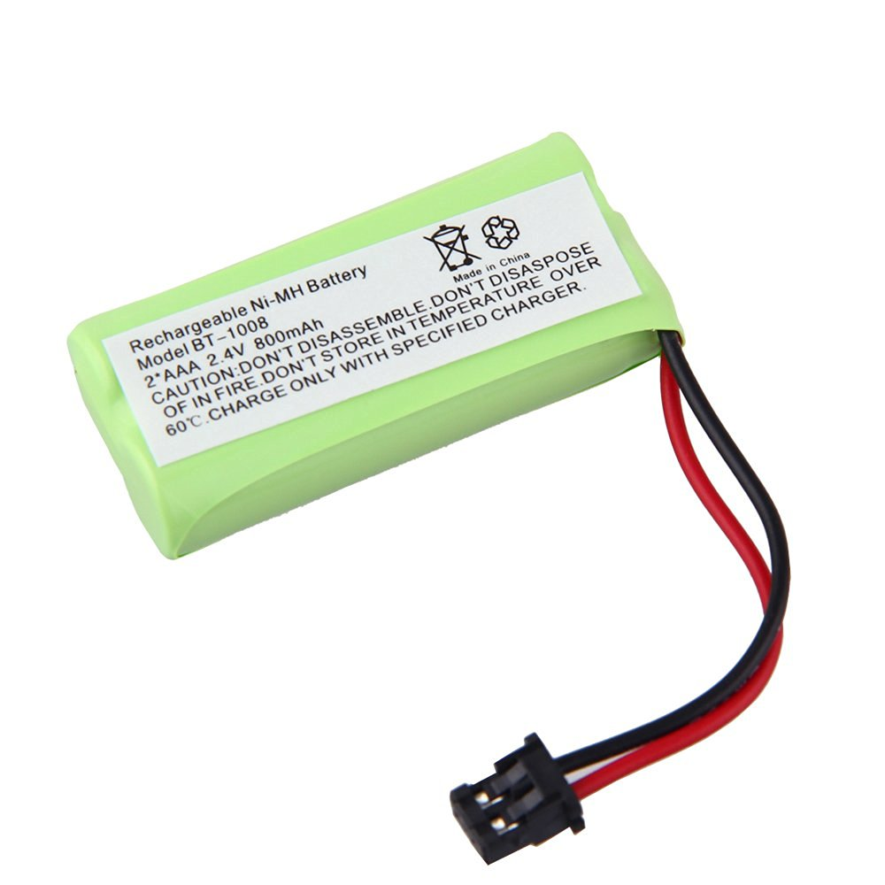 ELEOPTION(TM) Cordless Phone Battery 2.4 Volt, Ni-MH 800mAh - Replacement For UNIDEN BT-1008, BT-1016 Uniden BT1021 Uniden BBTG0645001 Uniden DCX200, DECT 2060 BT-1008 BT-1008S, BT1008S, BT-1016, BT1016 WITH43-269 BBTG0645001, BBTG0734001 Compatible for Uniden BT-1008 BT1008 BT-1008S BT1008S