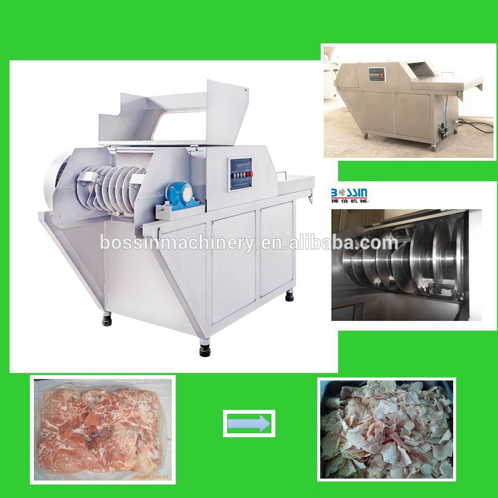 China widely used special designed frozen blocks of meat slicing machine