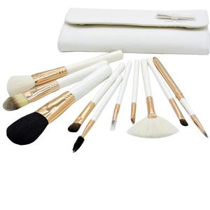 The new hot PU bag 10 sets of beauty tools / fan brush