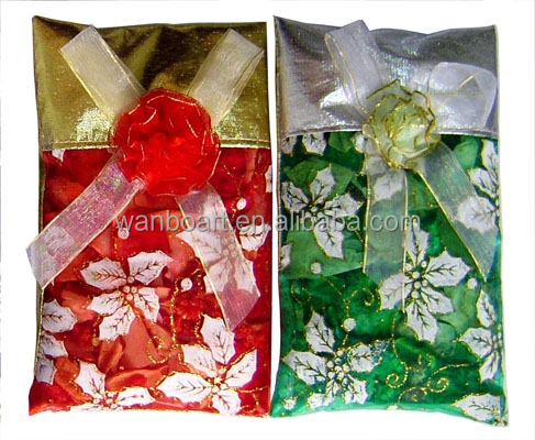 dried flower with essence oil / aroma potpourri in flower printing silk bag dried flower